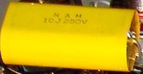 10 uf 250V yellow capacitors