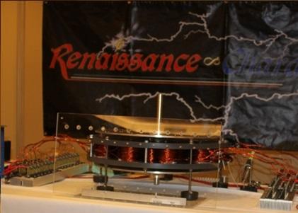 Assembled 10 Pole large DualPolar Magnet Motor